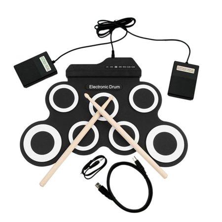 (USB Electronic Drum G3002 Drum Kit Drum Set Percussion Instrument For Children)