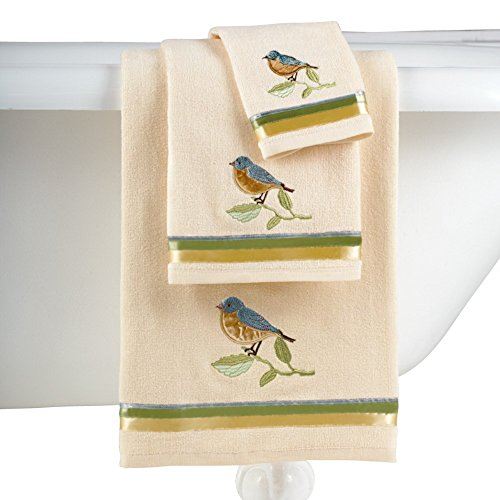 Collections Etc Birds and Blooms Bathroom Towel Set by Collections Etc
