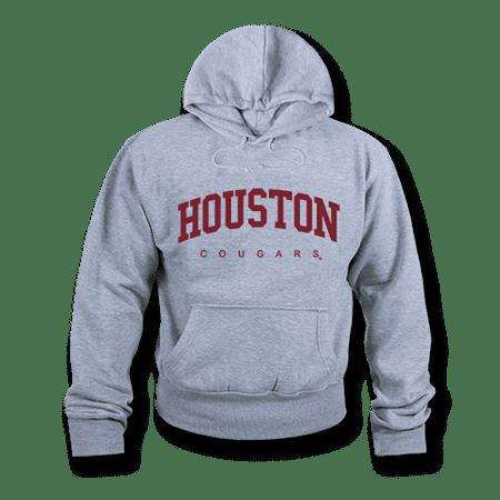 NCAA Houston Cougars Hoodie Sweatshirt Game Day Fleece Pullover Heather Grey Large (Houston Cougars Baseball)