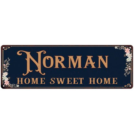 NORMAN Home Sweet Home Victorian Look Personalized 6x18 Metal Sign 106180046493 (Personalized Sweets)