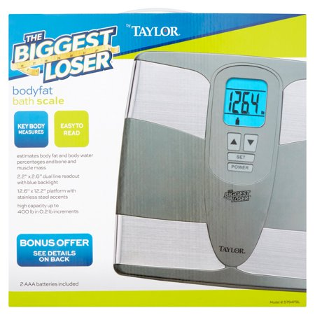 The Biggest Loser® by Taylor 5794FBL Body Composition Analysis Bathroom Scale