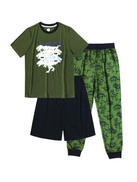 Wonder Nation Boy's 3 Piece Pajama Sleep Set