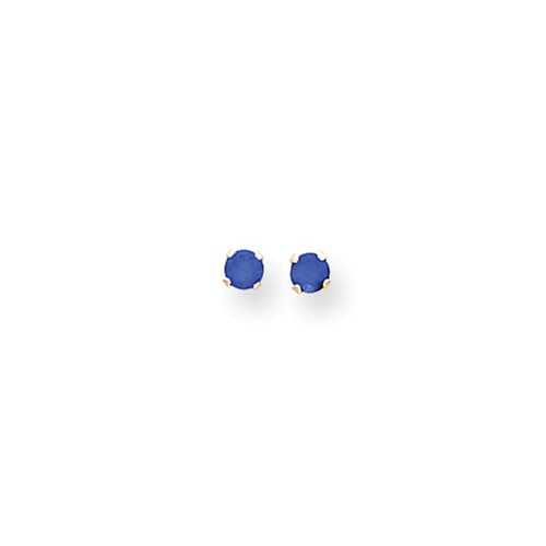 14k Yellow Gold Children's 3mm Synthetic Spinel Birthstone Post Stud Earrings