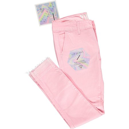 48ec491952 V.I.P.JEANS - Ultra Skinny Day or Evening Soft Stretch Jeans Pants for Women  Junior Size 5 Blush Pink - Walmart.com