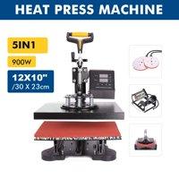 """12"""" X 10"""" Heat Press 360 Degree Swivel Heat Press Machine 5 in 1"""