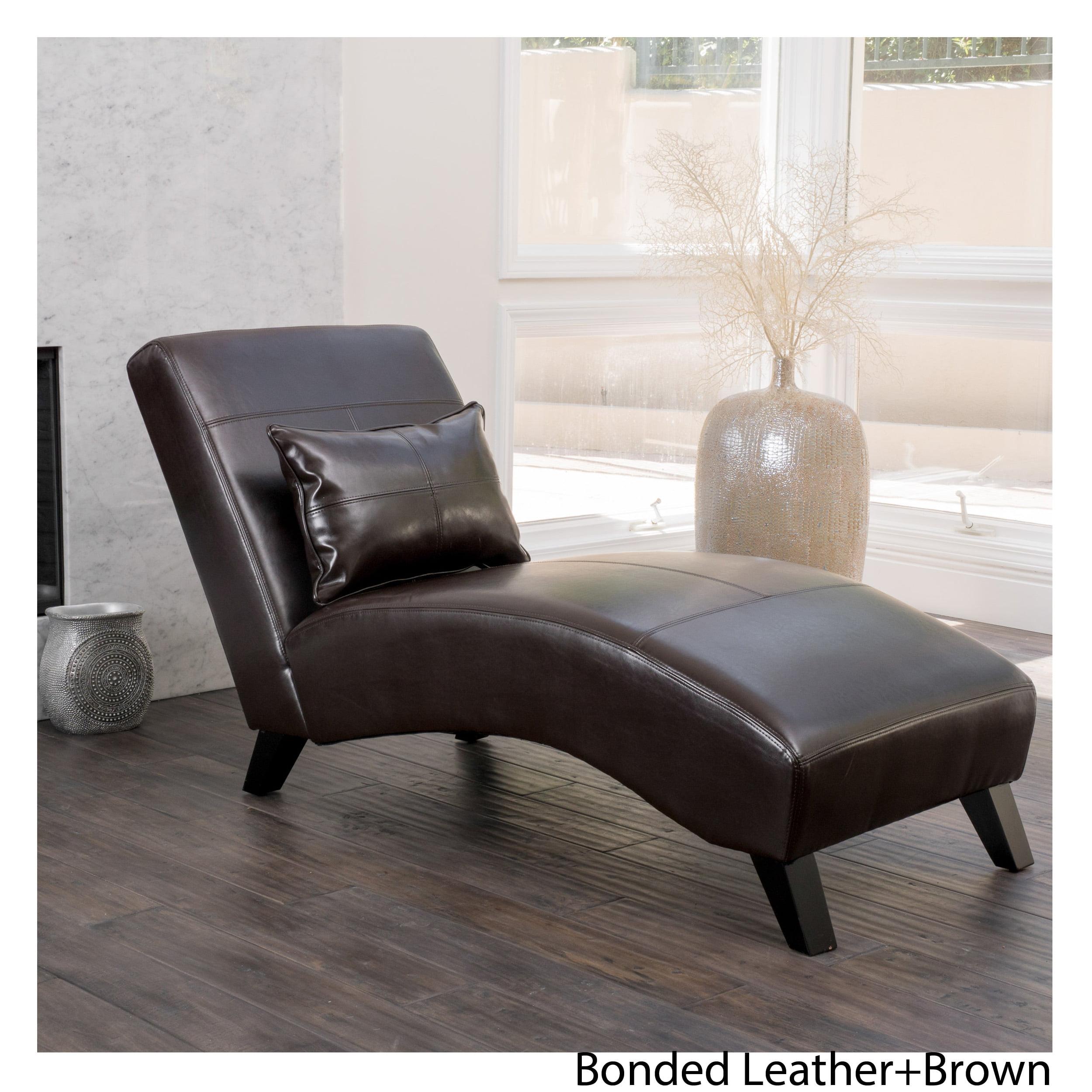 Baldwin Brown Leather Chaise Lounge Walmart Canada
