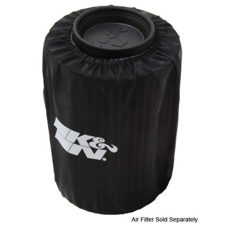 K&N Air Filter Wrap Drycharger - Round Straight - Black for Polaris Ranger
