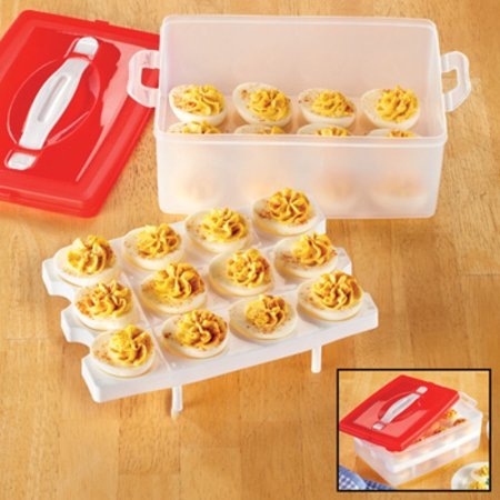 Stacked Deviled Egg Carrier - Holds 24 (Tupperware Deviled Egg)