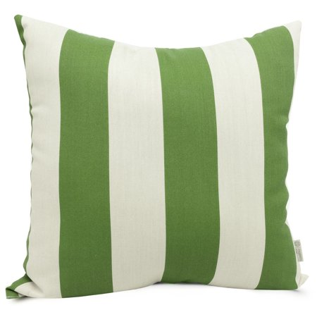 Majestic Home Goods Indoor Outdoor Sage Vertical Stripe Large Decorative Throw Pillow 20 in L x 8 in W x 20 in - Silkworm Sand Baby Pillow