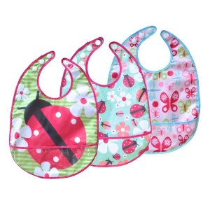 JJ Cole Bib Set, Pink Flutter Multi-Colored