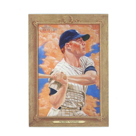 1952 Topps 311 Mickey Mantle - 2007 Topps Turkey Red #107 Mickey Mantle Yankees Triple Crown Card