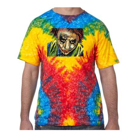 Joker Face Tie Dye Tee Shirt - Woodstock, 3XL - Joker Tie