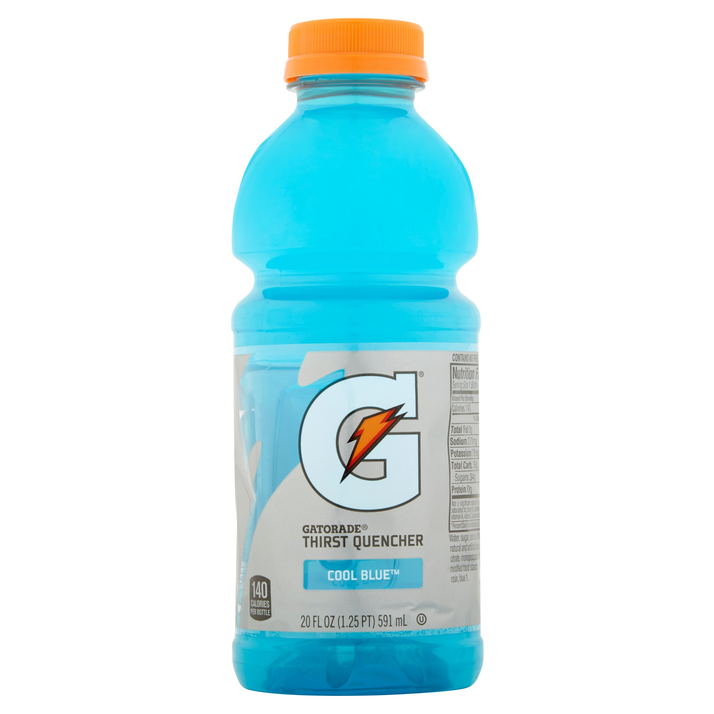 Gatorade Thirst Quencher Sports Drink, Cool Blue, 20 Fl Oz, 8 Count