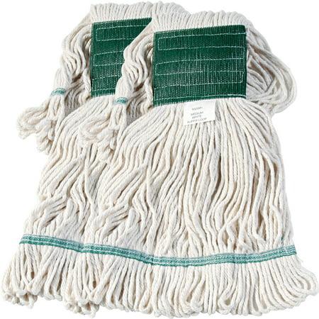 Boardwalk Medium White Cotton/Synthetic Super Loop Wet Mop Head, 1 count, Bundle of 2