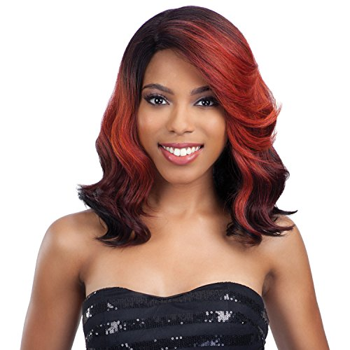 Model Model Synthetic Hair Lace Front Wig Deep Invisible ...