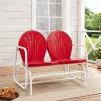 Deals on Mainstays Retro Outdoor Glider Loveseat