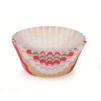 2Dia. x 1.2H Ruffled Cupcake Cup Stripe Pink,Case of 1800