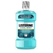 Listerine Cool Mint Antiseptic Mouthwash for Bad Breath, 1.5 L
