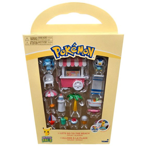 44fcd3fd1e2 Pokemon Petite Pals Let's Go to the Beach Playset [Piplup & Glaceon] -  Walmart.com