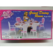 "My Fancy Life Grand Dinning Room for 11.5"" fashion doll and dollhouse furniture"