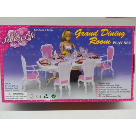 Making Dollhouse Furniture (My Fancy Life Grand Dinning Room for Barbie dolls and dollhouse furniture)