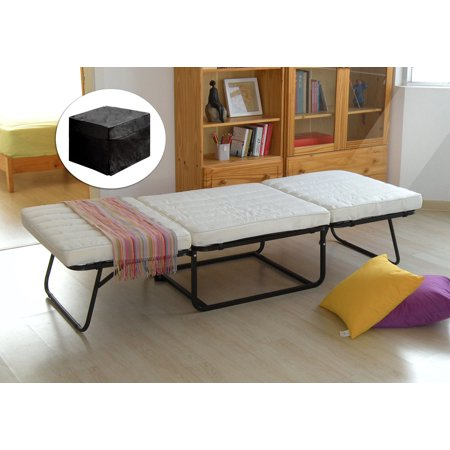 Pilaster Designs Folding Ottoman Guest Bed Sleeper With