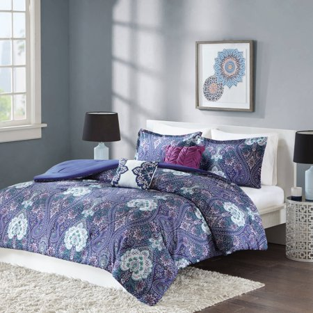 Better homes and gardens midnight paisley 5 piece Better homes and gardens comforter set