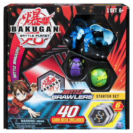 Bigger Brawlers Battle Pack (Bakugan, Battle Brawlers Starter Set with Bakugan Transforming Creatures, Aquos Garganoid, for Ages 6 and)