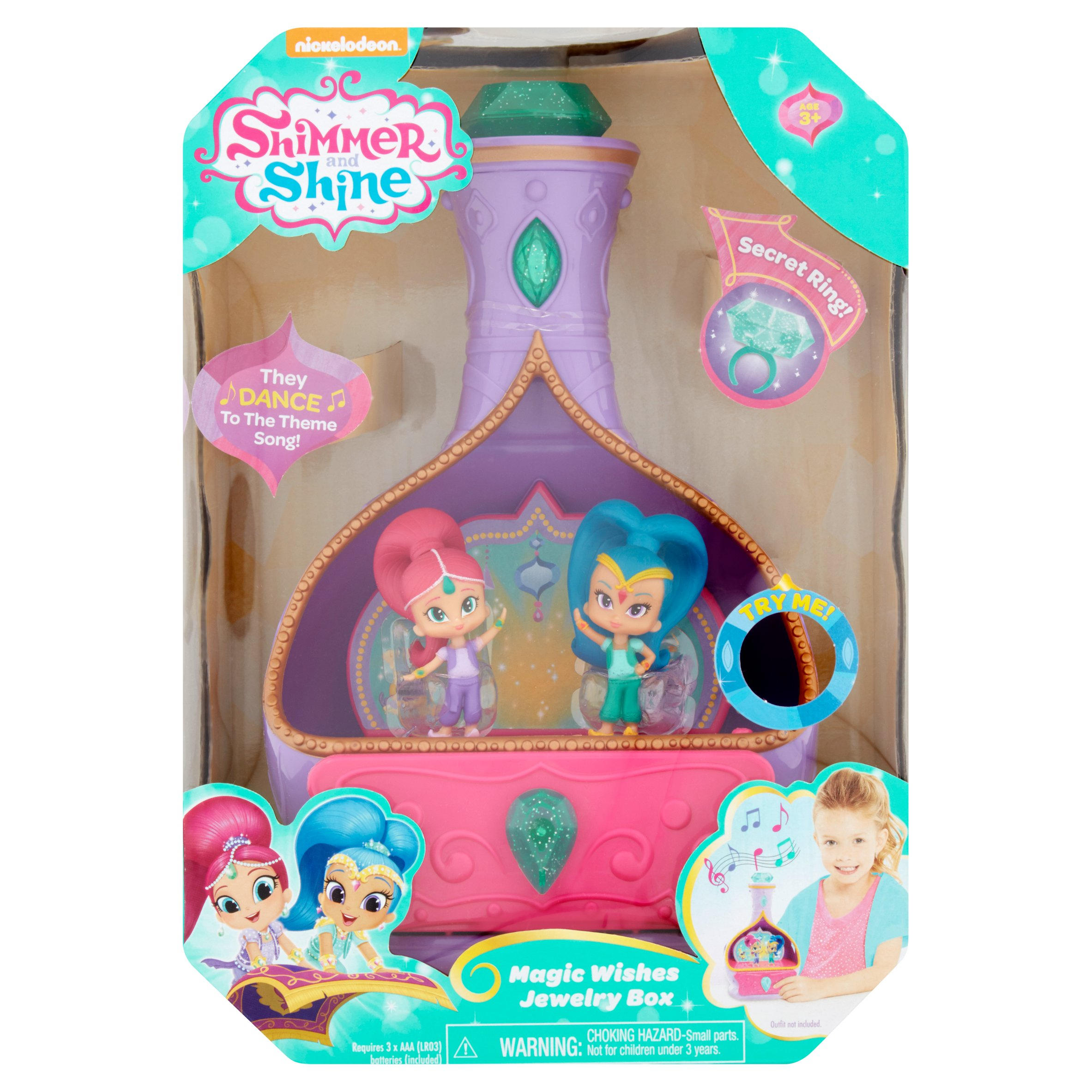 Nickelodeon Shimmer and Shine Magic Wishes Jewelry Box Age 3+