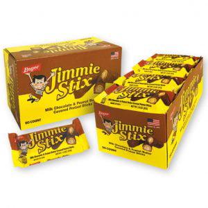 Boyer Jimmie Stix Chocolate Peanut Butter Pretzel, 1.8 Oz, 20 Ct (Halloween Chocolate Covered Pretzel Sticks)
