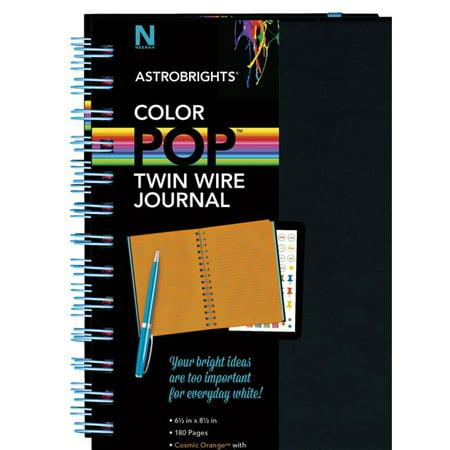 Neenah Paper 1569868 6.5 x 8.5 in. ColorPop Twin Wire Journal, Cosmic Orange