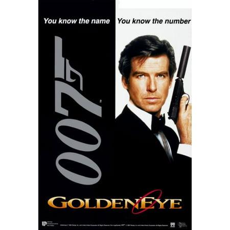- Goldeneye Movie Poster James Bond 24x36 Art decor incl. mail/storage tube.