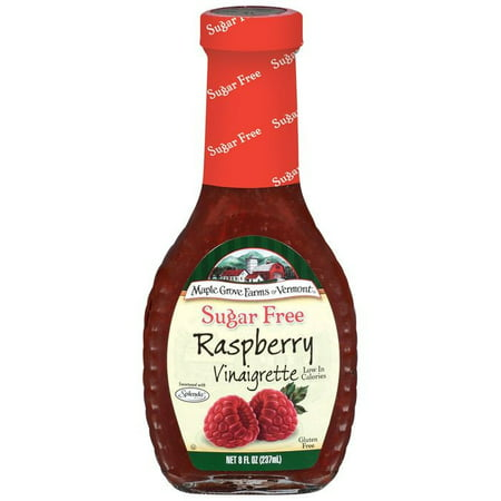Farm Raspberry - Maple Grove Farms Sugar Free Raspberry Vinaigrette Dressing, 8 oz