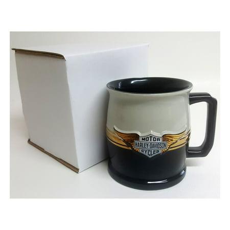 Harley Davidson Motor Cycles Gold Wings Ceramic -