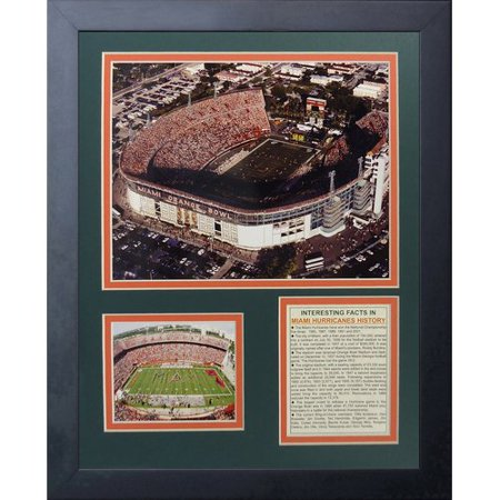 Legends Never Die Miami Hurricanes Miami Orange Bowl Framed (Hurricane Bowls)
