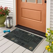 """Mohawk Dogs Welcome Doorscapes Recycled Rubber Doormat, 18"""" x 30"""""""