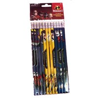 Party Favors - Incredibles - Pencils - Wooden - 12pc