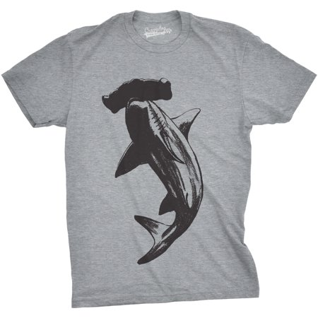 Crazy Dog T-shirts Mens Hammerhead Shark T Shirt Cool Aquatic Wildlife Graphic Tee (Shark Xxl)