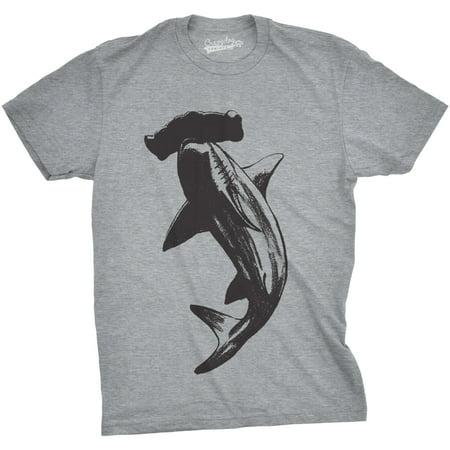 Crazy Dog T-shirts Mens Hammerhead Shark T Shirt Cool Aquatic Wildlife Graphic Tee