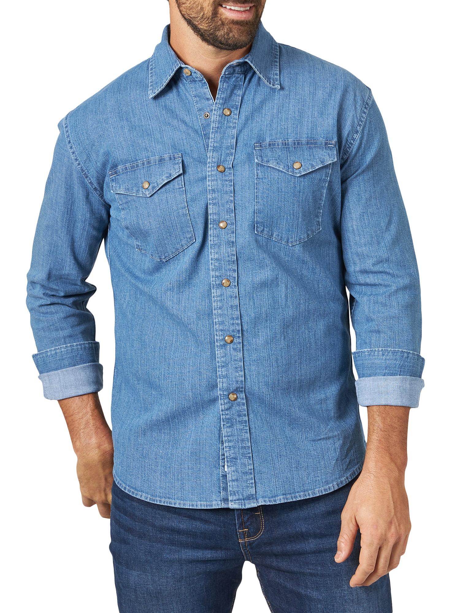 Slim Fit Outdoor Denim Chambray Button Down Shirt