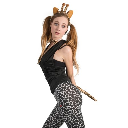 Funny Fashion Giraffe Playset 3pc One-Size Costume Accessory Kit, Yellow Orange - Halloween Playsuit