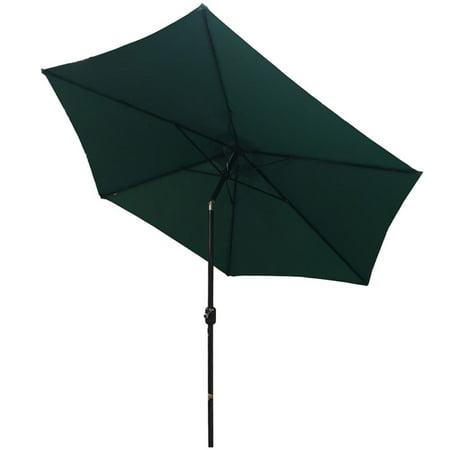 Palm Springs 10ft Aluminium Outdoor Patio Umbrella Garden Parasol w/ Tilt Green