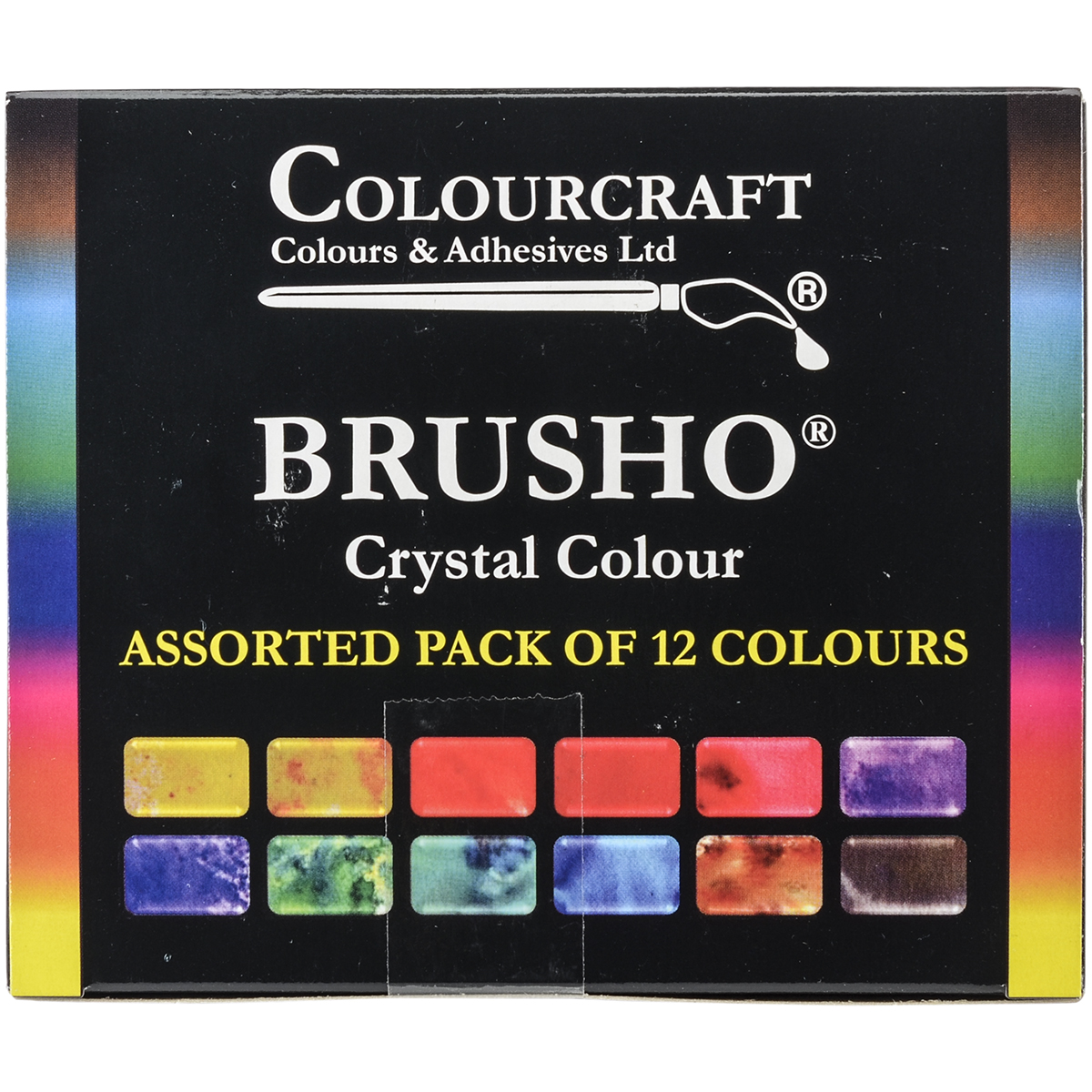Brusho Crystal Colours Set 12/Pkg-