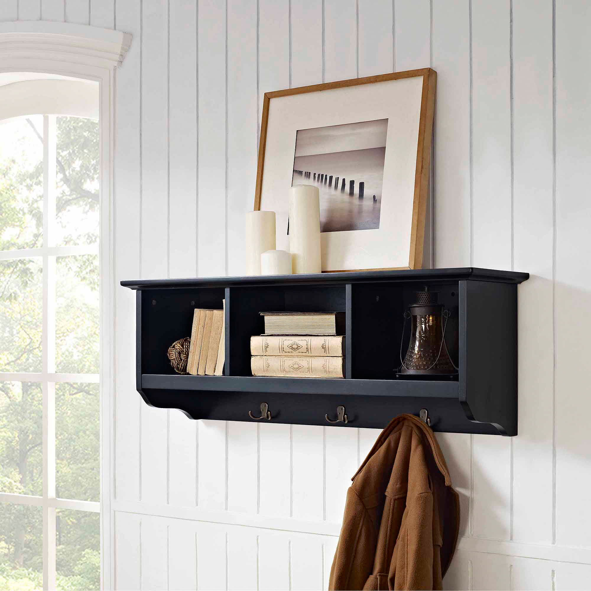 Crosley Furniture Brennan Entryway Storage Shelf Multiple Colors
