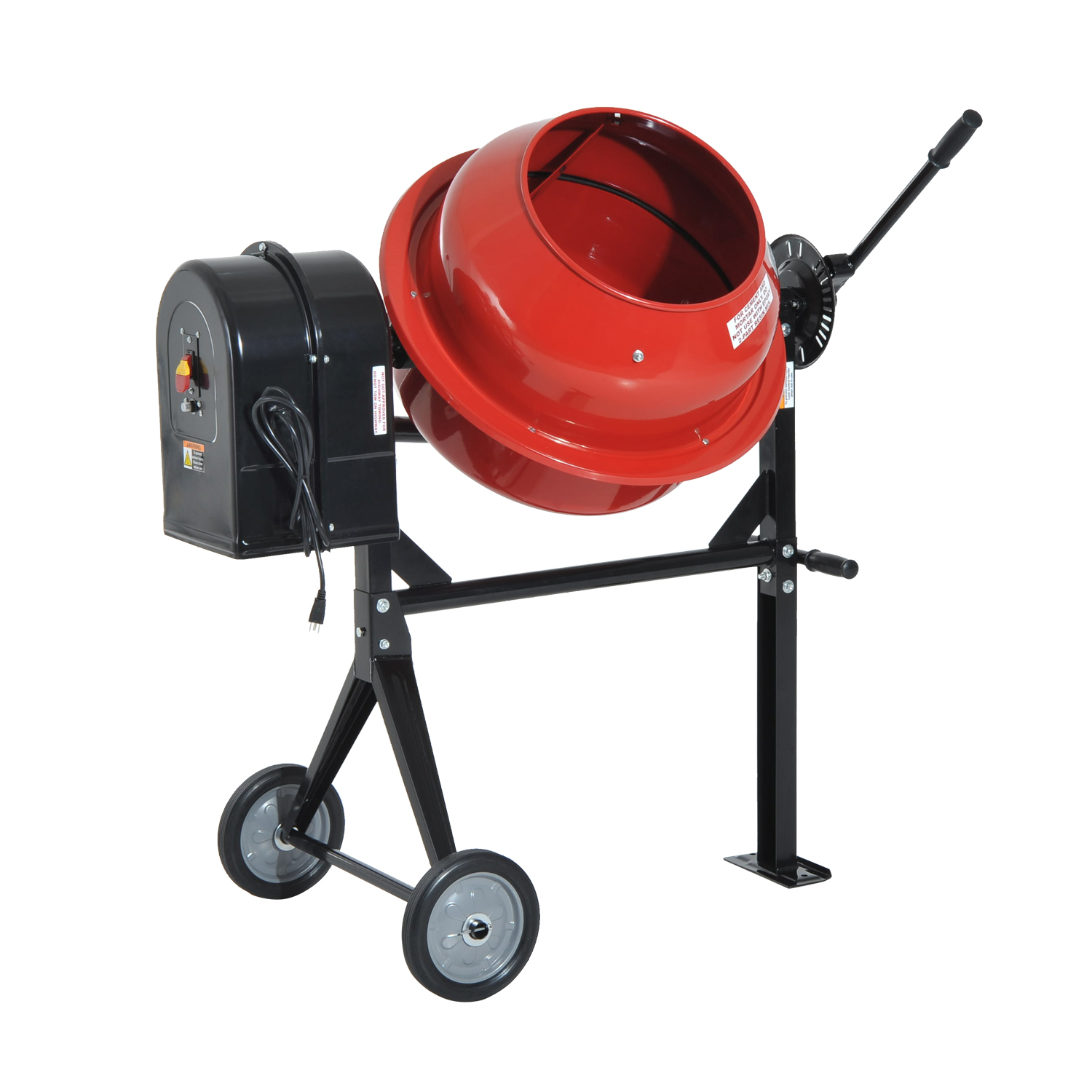 HomCom 3.5 Cu Ft Portable Electric Cement Concrete Mixer 1 2 HP ??Tools & Hardware by Aosom LLC