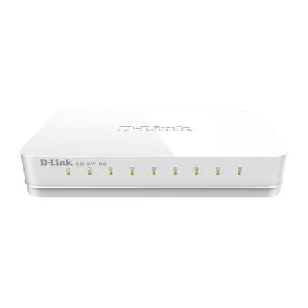 D-Link GO-SW-8G 8-Port Gigabit Unmanaged Desktop