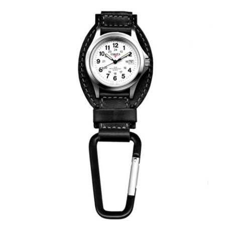 - Classic Genuine Black Leather Clip Watch
