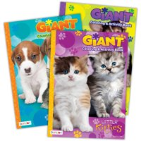Giant Coloring and Activity Book, 3pk