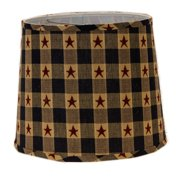 August Grove Star Spangled 16'' Linen Drum Lamp Shade