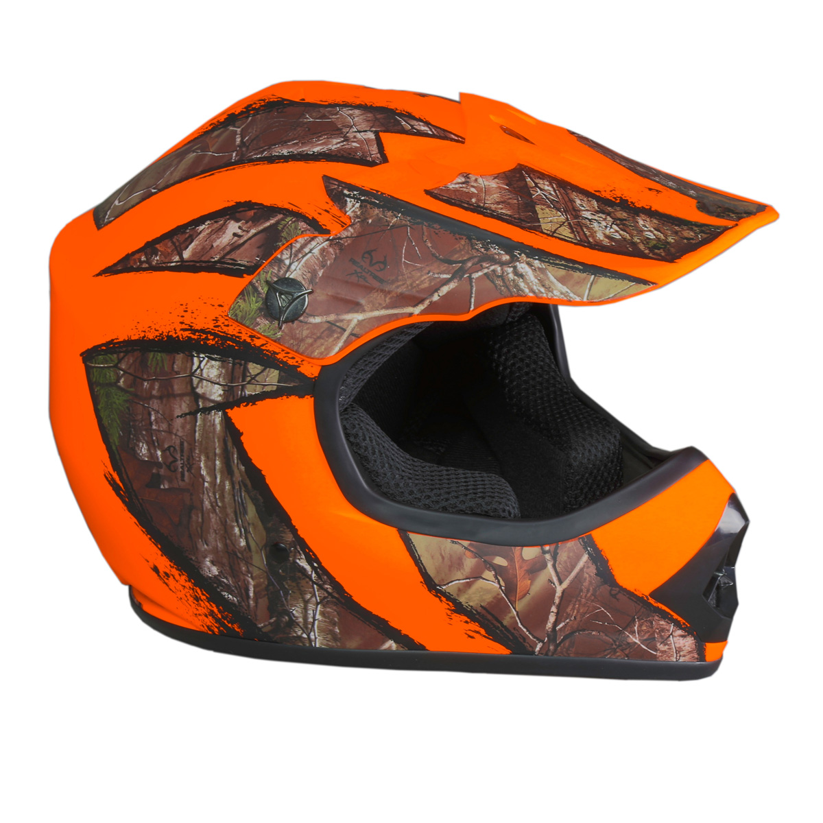 SHC Youth MX / ATV Helmet Realtree Xtra Camo - DOT Approved - Boys Girls Kids